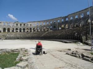 """Das beeindruckende Amphitheater, ein """"muss"""" in Pula"""